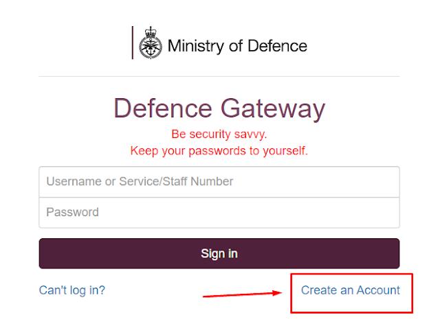 Defence Gateway Login