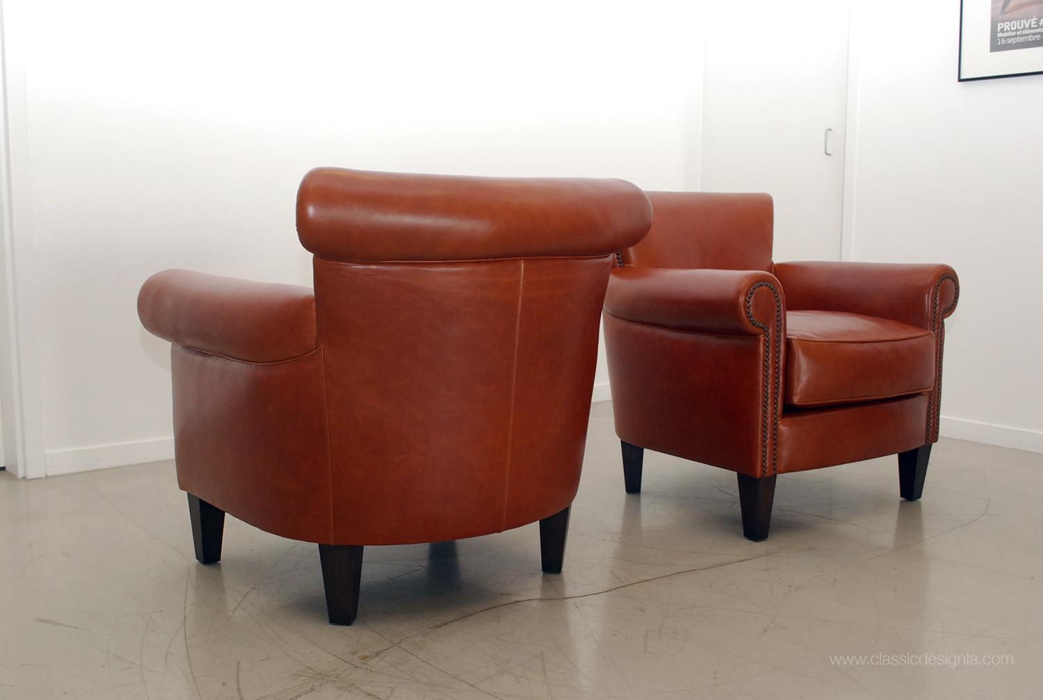 classic design: Classic Leather Club Chairs