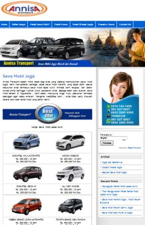Iklan Website Rental Sewa Mobil