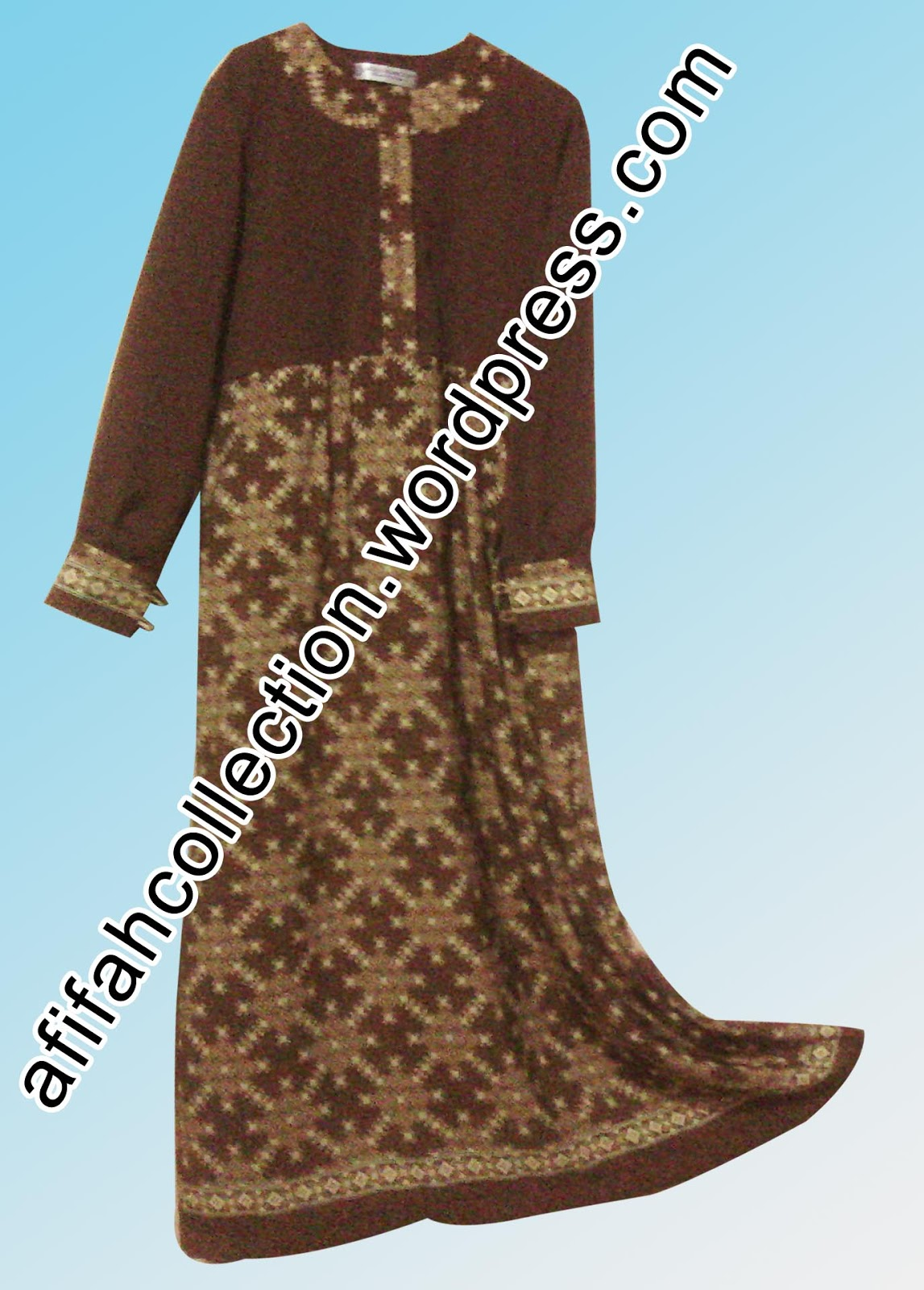 Azzuracollection Gamis Umbrella Kombinasi Batik