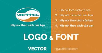 """Font chữ và logo Viettel vector bản chuẩn, download font chữ """"hãy nói theo cách của bạn"""""""