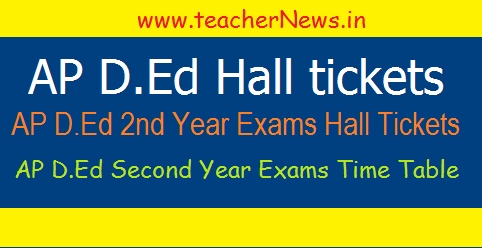 AP D.Ed 2nd Year Hall Tickets, Exams Dates for 2015-2017 Batch Students