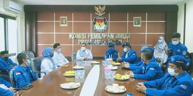 Lawan KLB Abal-Abal, Demokrat Banten Serahkan Daftar Pengurus Sah Sesuai Sispol Ke Kemenkumham Dan KPU Banten