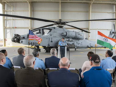 IAF gets its first Apache attack helicopter from Boeing facility in US