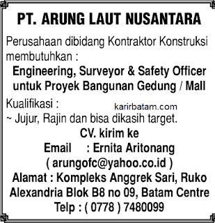 Lowongan Kerja PT. Arung Laut Nusantara