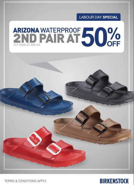Birkenstock Malaysia Arizona Waterproof Labour Day Special Discount Promo