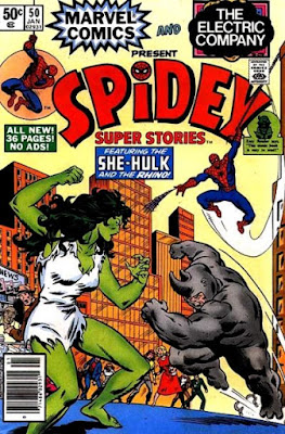 Spidey Super Stories #50, She-Hulk and the Rhino
