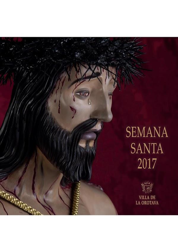 Programa, Horarios e Itinerarios Semana Santa Villa de La Orotava (Tenerife) 2017