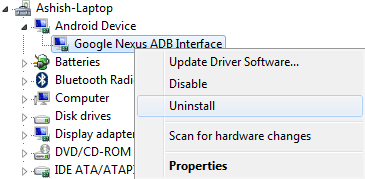 google-nexus-adb-interface