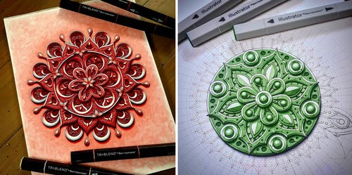 00-3D-Mandala-drawings-Baz-Furnell-www-designstack-co