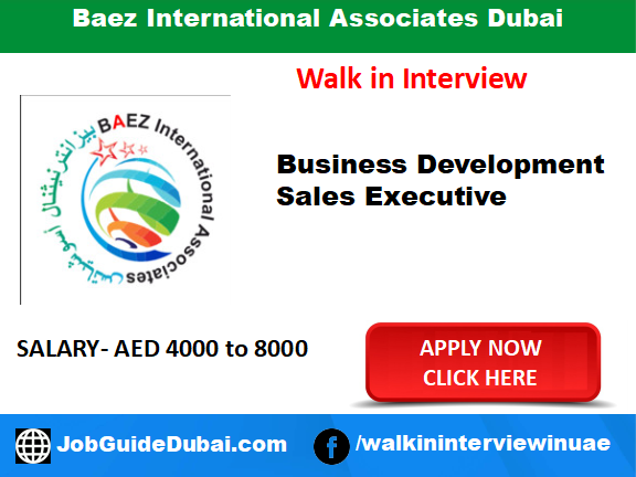 Baez International Associates career for Sales Executive and Business Development job in Dubai