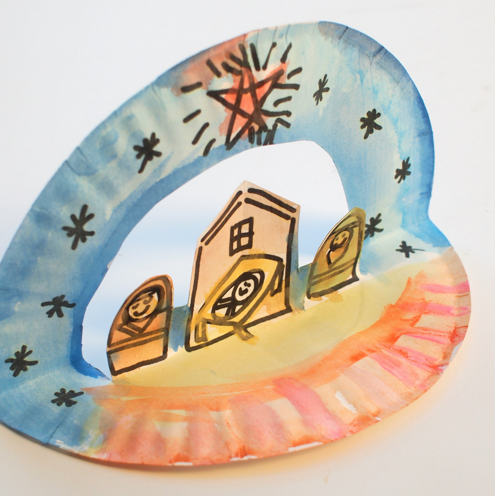 super easy pop up paper plate nativity great childrens christmas craft for preschoolers and up