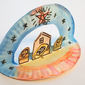 Super Easy Pop Up Paper Plate Nativity - Great Children's Christmas craft for preschoolers and up!