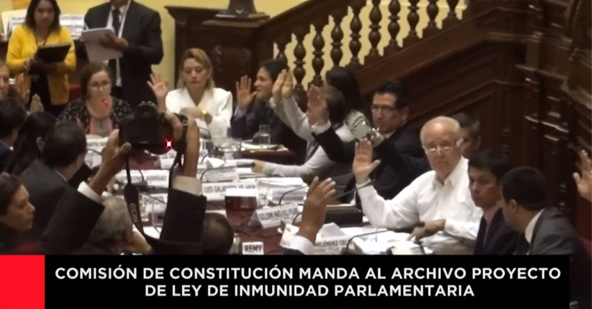 Con votos del Fujimorismo, Apra y Acción Popular, rechazan proyecto sobre inmunidad parlamentaria presentado por el ejecutivo