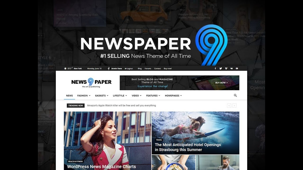 Newspaper News Magazine WordPress Theme