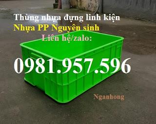 www.123nhanh.com: Thùng nhựa đặc Hs017, sóng nhựa bít