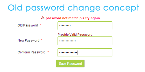 Change Password PHP and Mysqli Script