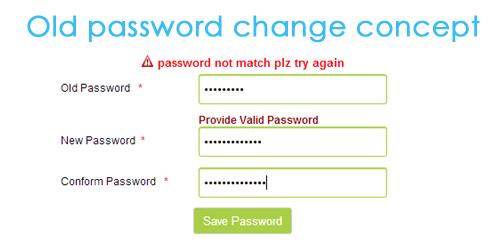 Change Password PHP and Mysqli Script