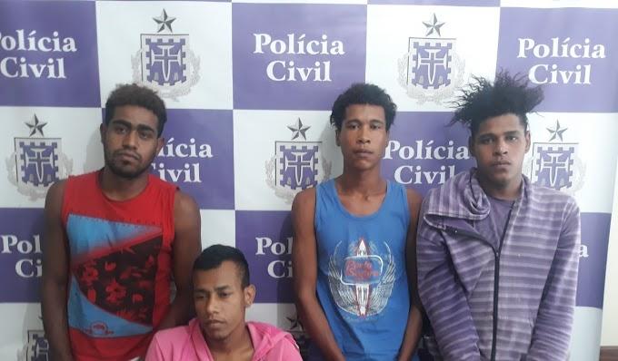 Polícia Civil prende quarteto acusado de homicídio em Caém