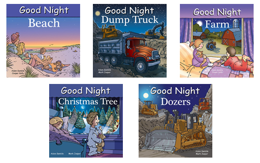 Good night books, kids books, preschool books, teach kids to read, kids books, kindergarten books, good night, bedtime story, bedtime reading, kids story, kids stories, hardcover kids books, hardcover books for kids, hardcover books, beach, christmas tree, dump trucks, farm, dozers, farm books, christmas books