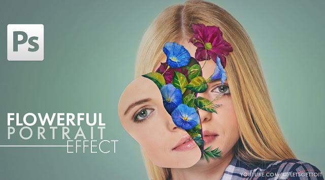 Flowerful Portrait Effect in Photoshop