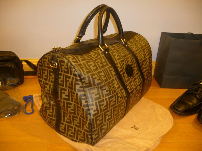 5296fc9c94 ... travel bag f28bf e8364  denmark monday june 27 2011. authentic fendi  luggage gym bag 0b7dd 63b59