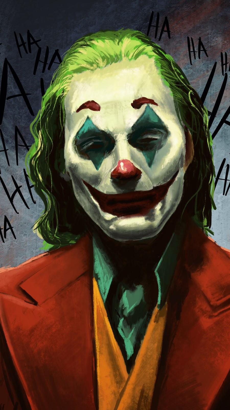 A WALLPAPER OF JOKER LAUGHING ART HD FREE DOWNLOAD 1080X1920