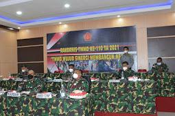 Bersama Bambang Trisnohadi, Izak Pangemanan Ikut Rakornis TMMD ke-110 Melalui Video Conference
