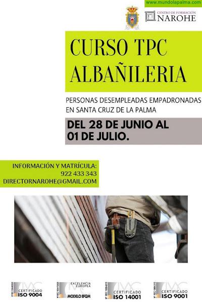 El Ayuntamiento ofrece un curso de albañilería para desempleados de Santa Cruz de La Palma
