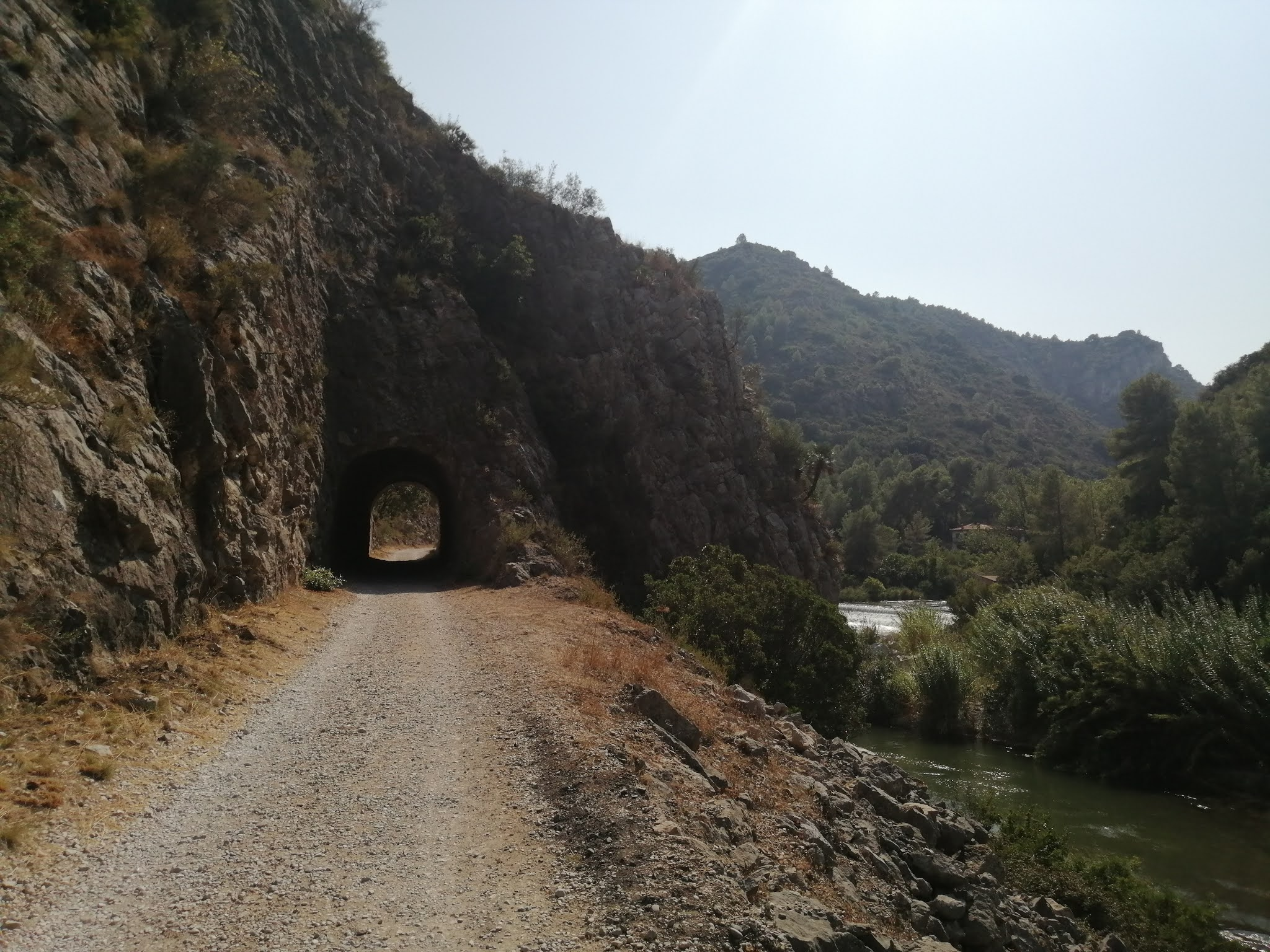 Tunnel above the Assut de Morú diversion dam on the River Serpis, Valencia, Spain