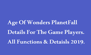 Age Of Wonders PlanetFall Details