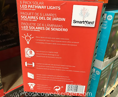 Add more light outside of your home the Alpan SmartYard Solar LED Pathway Lights