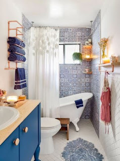 Easy Ideas to Decorate a Bathroom in Blue