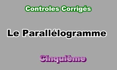 Controles Corrigés Sur Le Parallélogramme 5eme en PDF