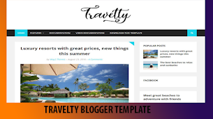 Travelty Premium Blogger Theme Original - Responsive Blogger Template