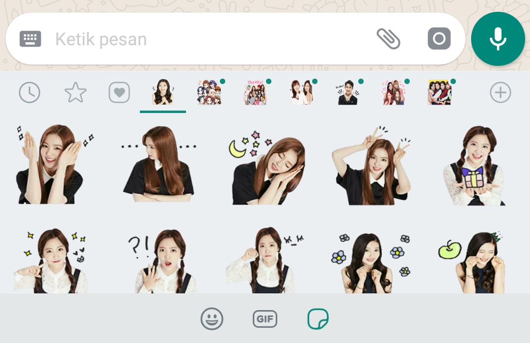 Stiker Emoticon WhatsApp