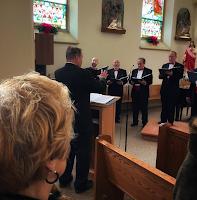 Choir sining in church