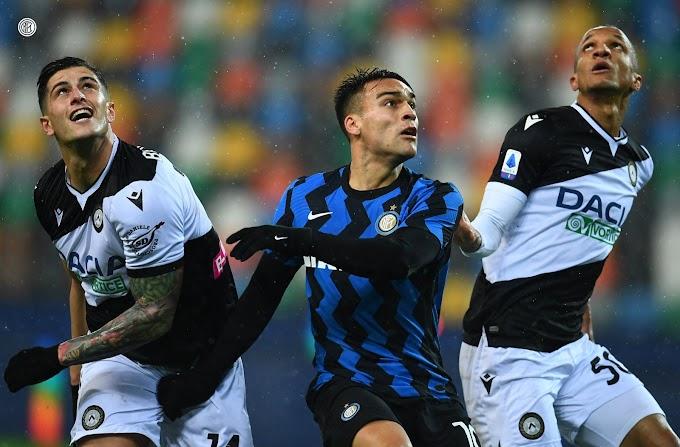 Inter, solo un pari con l'Udinese e manca l'aggancio in vetta