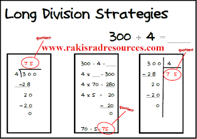Free long operations strategy posters - long division, multiplication with regrouping and more - Free download from Raki's Rad Resources.