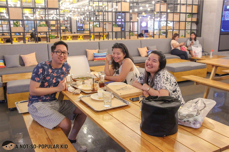 Renz Cheng, Nica Ang and Gail Chua in The Garage Food Park