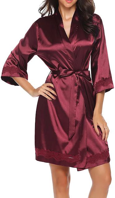 Best Red Satin Robes