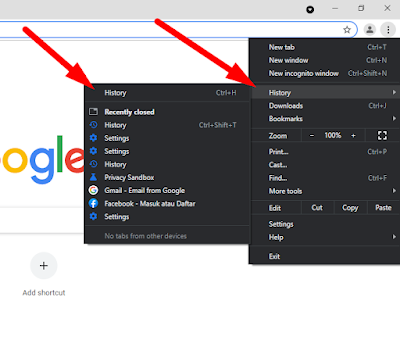 Cara Melihat History Google Chrome di Android