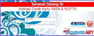 Aplikasi Kartu NUPTK, NRG Dan NISN Cetak Dengan Model Baru