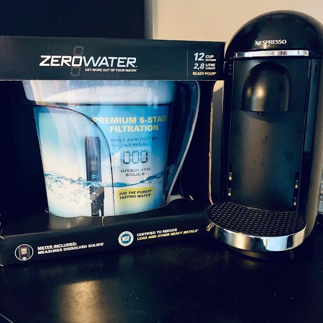ZeroWater water filter & Nespresso Vertuo