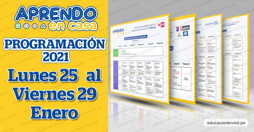 APRENDO EN CASA 2021: Programación «Modo Vacaciones» «Promo 2020» «La Pre» del Lunes 25 al Viernes 29 de Enero - MINEDU - TV Perú y Radio (ACTUALIZADO SEMANA 1 y 2) www.aprendoencasa.pe
