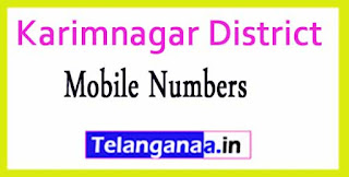 Chandurthi Mandal MPTC | ZPTC Member | MPP | Vice-President Mobile Numbers Karimnagar District in Telangana State