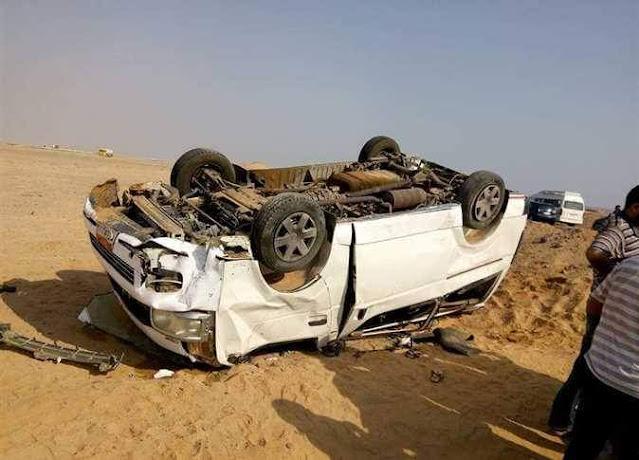 إصابة عامل في حادث انقلاب سيارة على الطريق الزراعي الشرقي بسوهاج