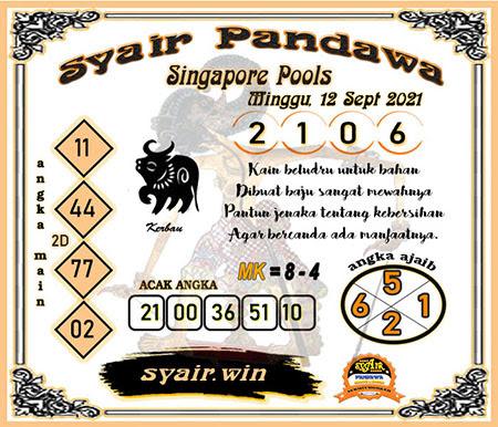 Syair Pandawa SGP Minggu 12-09-2021