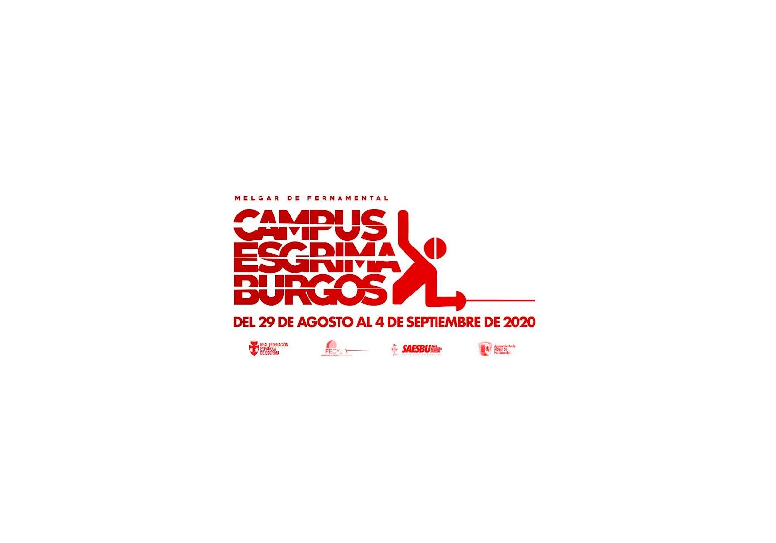 Campus Esgrima Burgos Melgar de Fernamental 2020 Saesbu verano agosto septiembre pretemporada
