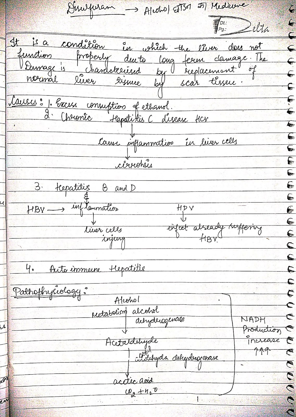 pathophysiology - alcohol liver cirrhosis
